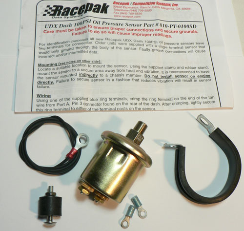 Racepak Turbo Back W//Sensor 0-75#1
