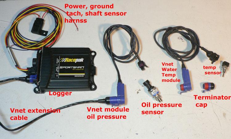 racepak vnet cables